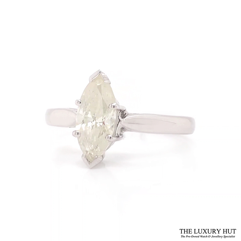 Shop 18ct White Gold 1.00ct Marquise Cut Diamond Engagement Ring - Order Online Today For Next Day Delivery - Sell Your Diamond Rings To The Luxury Hut