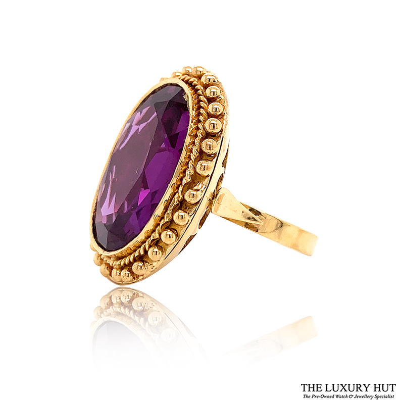 Shop 18ct Yellow Gold Certified Synthetic Colour Change Sapphire Dress Ring - Order Online Today For Next Day Delivery - Sell