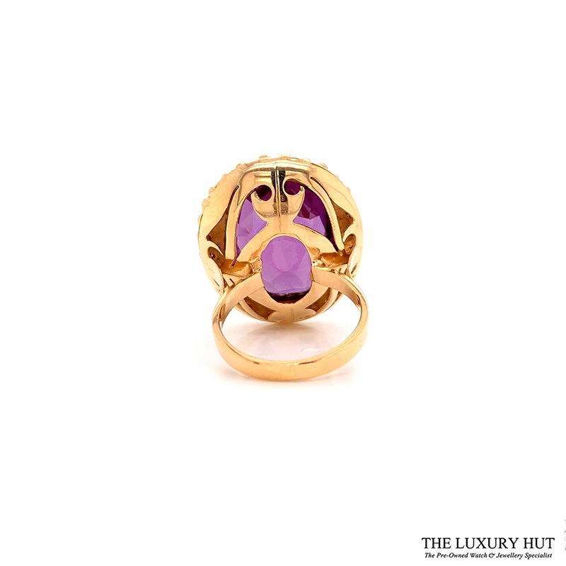 Shop 18ct Yellow Gold Certified Synthetic Colour Change Sapphire Dress Ring - Order Online