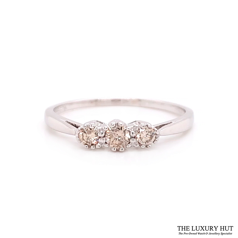 Shop 18ct White Gold 0.25ct Diamond Trilogy Ring - Order Online Today For Next Day Delivery