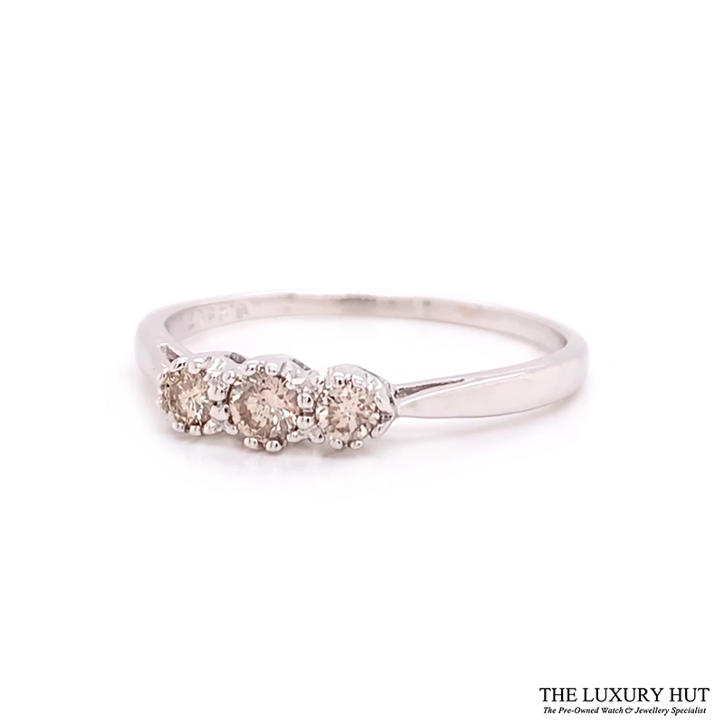 Shop 18ct White Gold 0.25ct Diamond Trilogy Ring - Order Online Today
