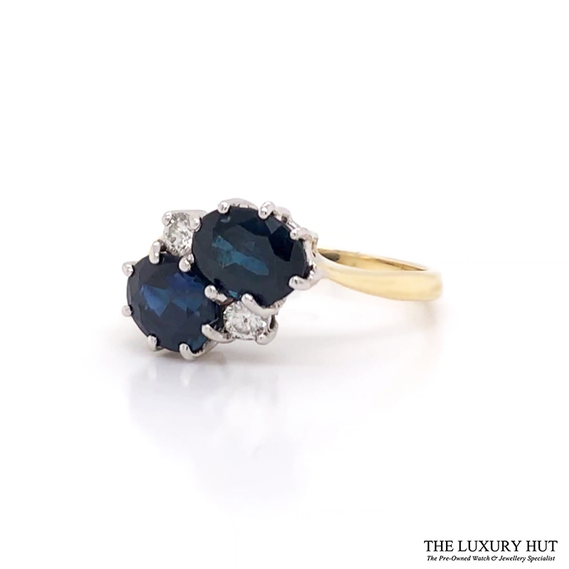 18Ct Yellow Gold Sapphire And Diamond Dress Ring - Order Online Today For Next Day