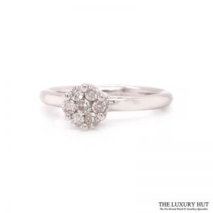 Shop 9ct White Gold 0.25ct Diamond Cluster Ring - Order Online Today