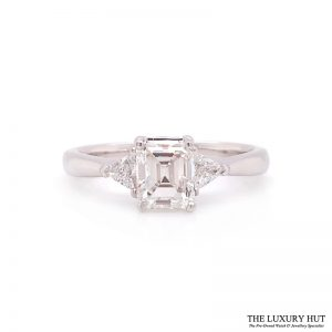 Shop 18ct White Gold 1.30ct GIA Diamond Engagement Ring - Order Online Today For Next Day Delivery