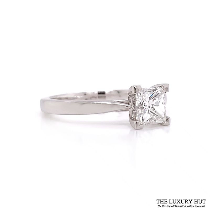 Platinum 0.91Ct Princess Cut Diamond Solitaire Ring- Order Online Today Delivery