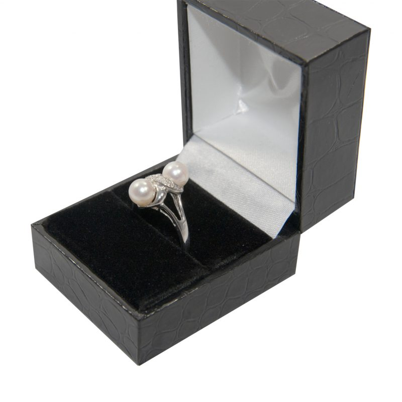 Shop 18ct White Gold Certified Diamond & Cultured Pearl Ring - Order