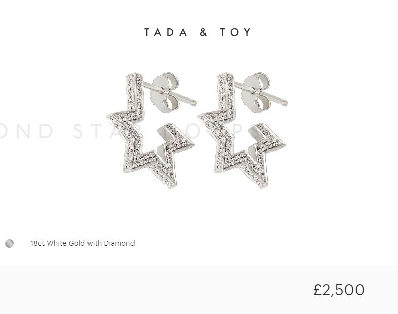 18ct White Gold Tada & Toy Design Earrings - Order Online Today