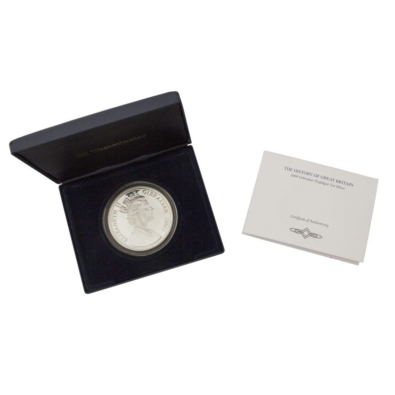 2008 Great Britain Gibraltar Trafalgar Silver Proof £10 Coin - Order Online Today