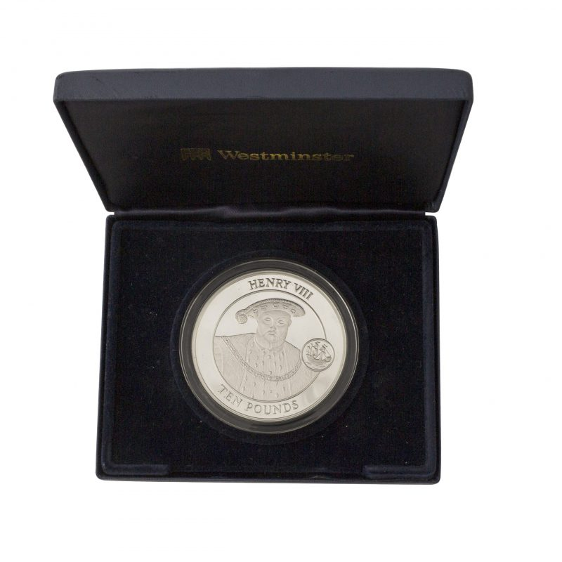 2009 The Gibraltar Henry Viii 5 Oz £10 Ten Pound Coin - Order Online Today For Next Day Delivery