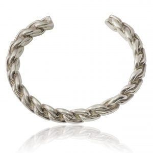 Sterling Silver 925 Plaited Heavy Bangle - Order Online Today For Next Day Delivery