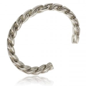 Sterling Silver 925 Plaited Heavy Bangle - Order Online Today