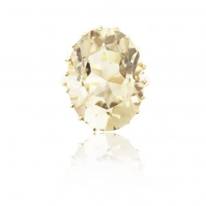 9Ct Yellow Gold Smoky Quartz Solitaire Dress Ring - Order Online Today