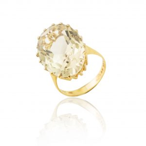 9Ct Yellow Gold Smoky Quartz Solitaire Dress Ring - Order Online Today For Next Day Delivery