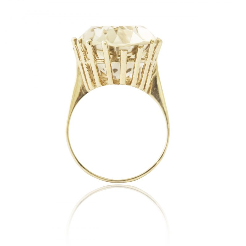 9Ct Yellow Gold Smoky Quartz Solitaire Dress Ring - Order Online