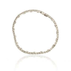 9Ct White Gold 1.00Ct Certified Diamond Bar Link Bracelet - Order Online Today For Next Day
