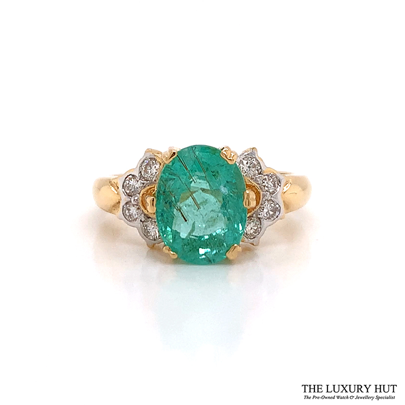 18Ct Yellow Gold 3.09Ct Tourmaline & Diamond Ring - Order Online Today For Next Day Delivery