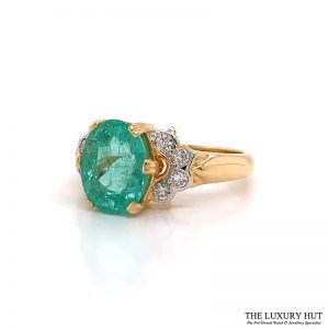 18Ct Yellow Gold 3.09Ct Tourmaline & Diamond Ring - Order Online Today For Next Day