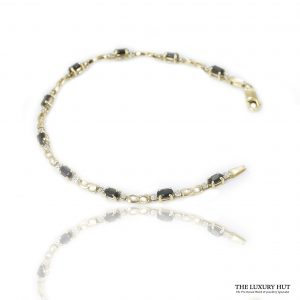 Shop 9ct Yellow Gold Sapphires & Diamond Bracelet – Order Online Today For Next Day