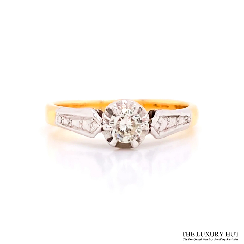 Shop 18ct Gold & Platinum Solitaire Diamond Ring - Order Online Today for Next Day Delivery