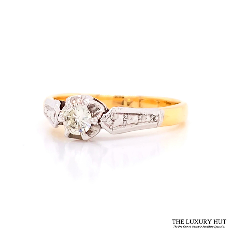 Shop 18ct Gold & Platinum Solitaire Diamond Ring - Order Online Today for Next Day