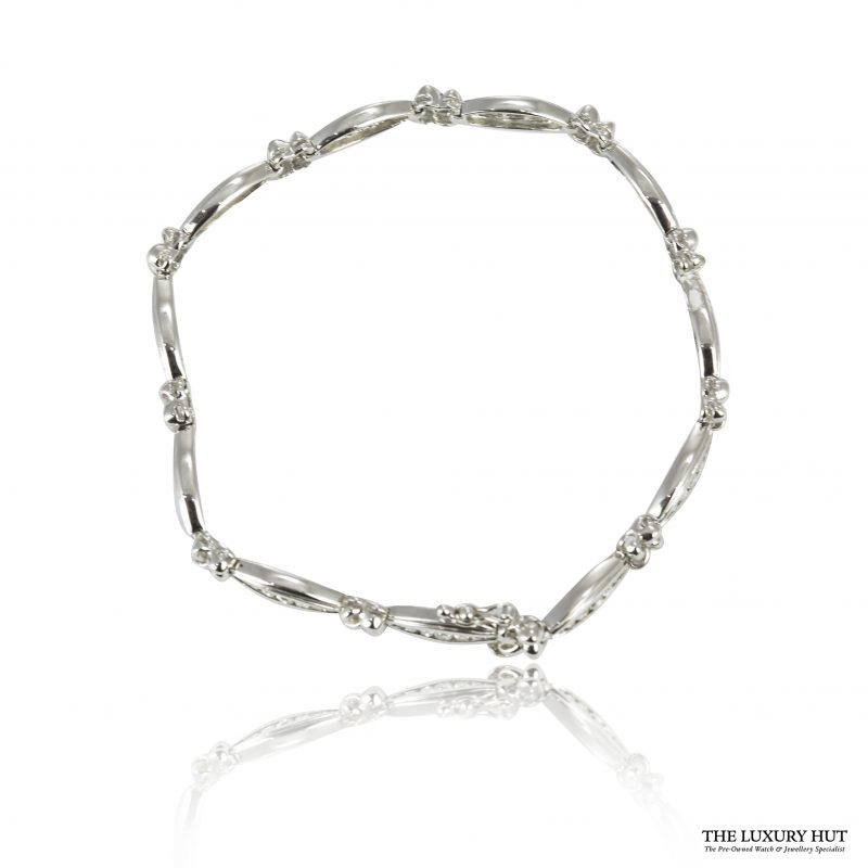Shop 18ct White Gold 1.00ct Diamond Bracelet – Order Online Today For Next Day Delivery