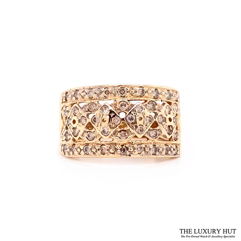 Shop 9ct Yellow Gold & 0.50ct Diamond Cluster Ring - Order Online Today For Next Day Delivery