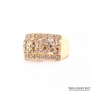 Shop 9ct Yellow Gold & 0.50ct Diamond Cluster Ring - Order Online Today For Next Day