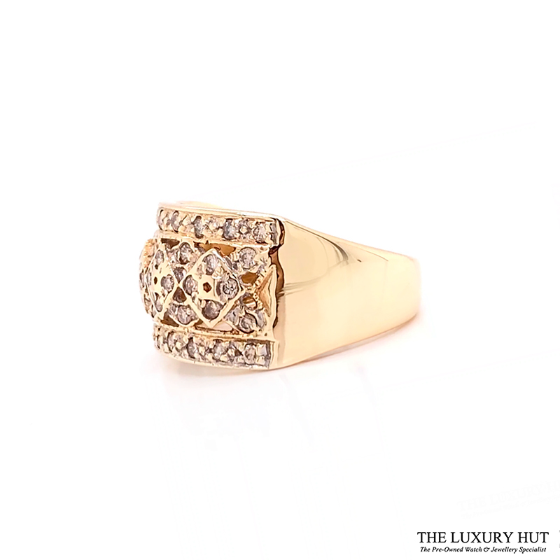 Shop 9ct Yellow Gold & 0.50ct Diamond Cluster Ring - Order Online