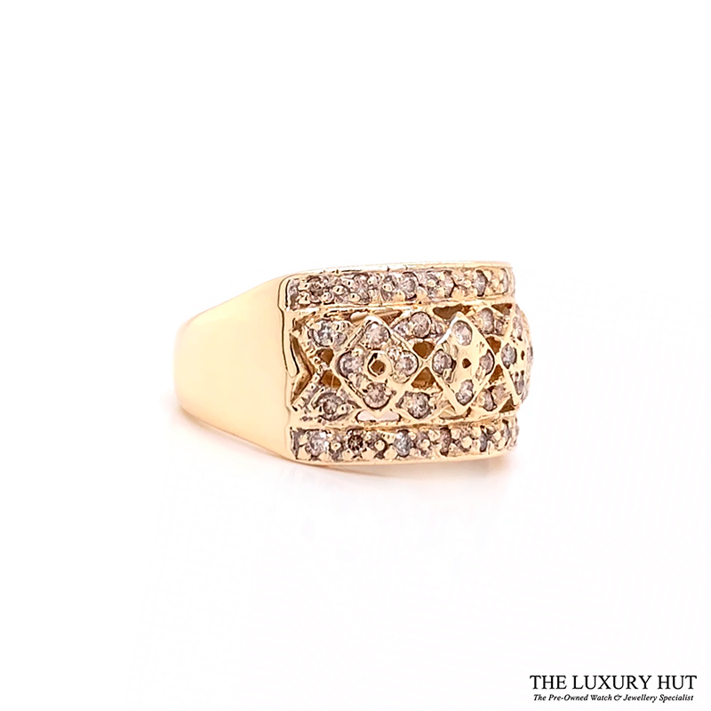 Shop 9ct Yellow Gold & 0.50ct Diamond Cluster Ring