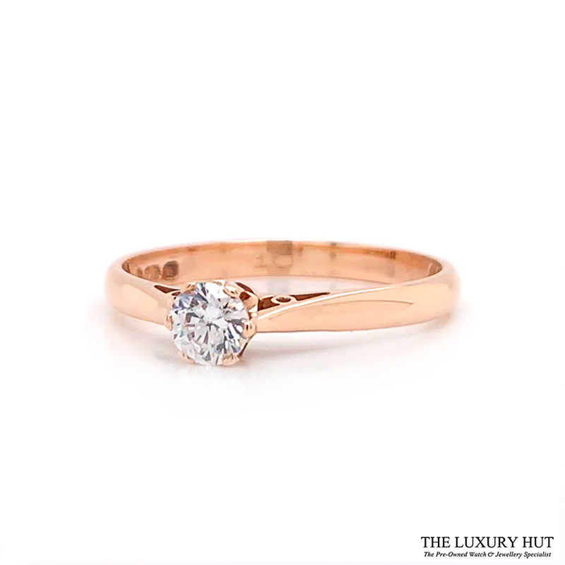 Shop 9ct Yellow Gold 0.10ct Cubic Zirconia Engagement Ring – Order Online Today For Next Day