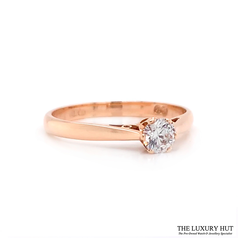 Shop 9ct Yellow Gold 0.10ct Cubic Zirconia Engagement Ring – Order Online Today Delivery