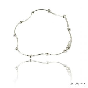 Shop 9ct White Gold & 0.04ct Certified Diamond Bracelet – Order Online Today For Next Day Delivery