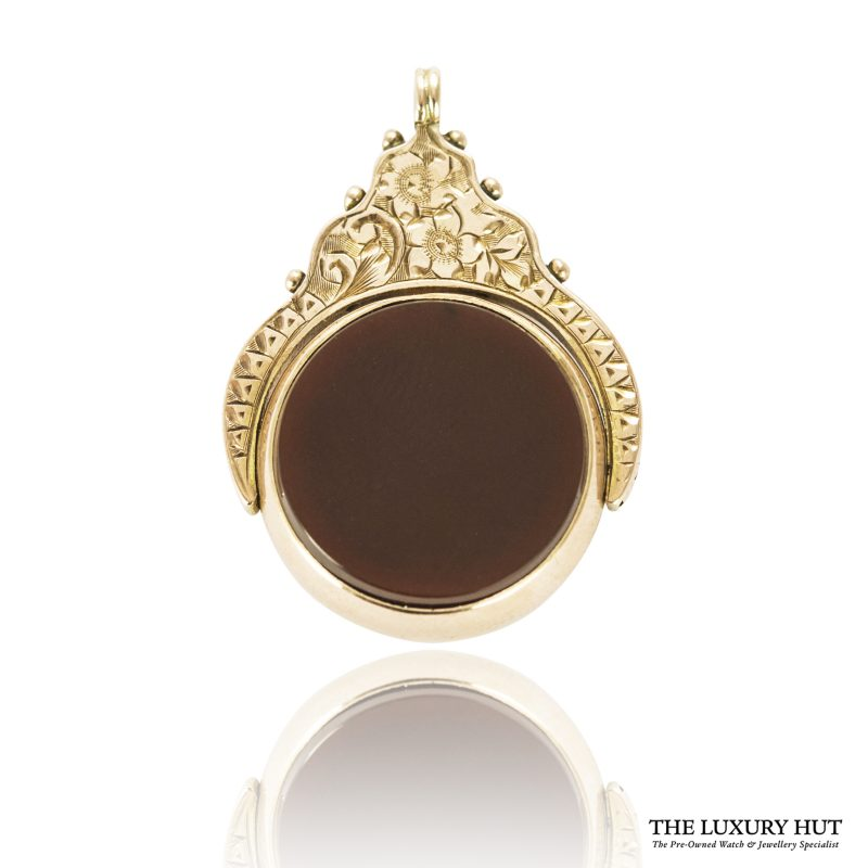 Shop 9ct Rose Gold Vintage Cornelian & Bloodstone Charm / Pendant - Order Online Today For Next Day Delivery