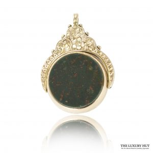 Shop 9ct Rose Gold Vintage Cornelian & Bloodstone Charm / Pendant - Order Online Today For Next Day