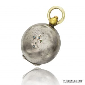 Vintage Grey Metal & Gold Pocket Watch Style Coin Holder - Order Online Today For Next Day Delivery