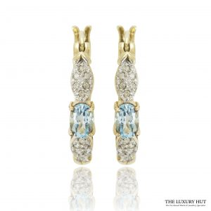 Shop Vintage 9ct Yellow Gold Topaz & Diamond Earrings – Order Online Today For Next Day Delivery
