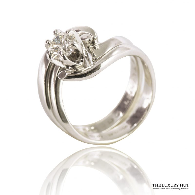 Shop Set of Two 950 Platinum & Diamond Engagement & Wedding Rings – Order Online Today For Next Day