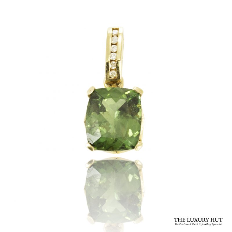Shop 9ct Yellow Gold Tsavorite & Diamond Pendant - Order Online Today For Next Day Delivery