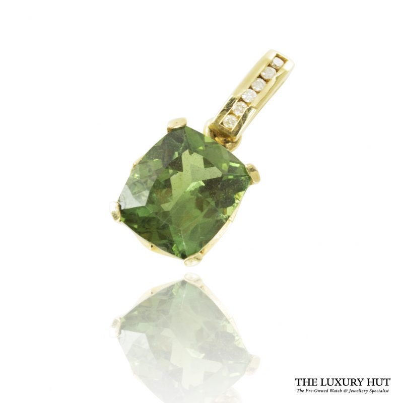 Shop 9ct Yellow Gold Tsavorite & Diamond Pendant - Order Online Today For Next Day