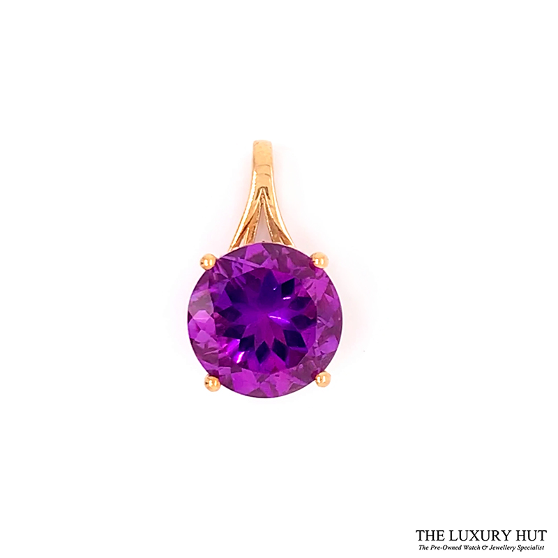 Shop 9ct Yellow Gold Amethyst Pendant - Order Online Today For Next Day Delivery