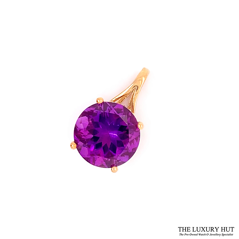 Shop 9ct Yellow Gold Amethyst Pendant - Order Online Today For Next Day