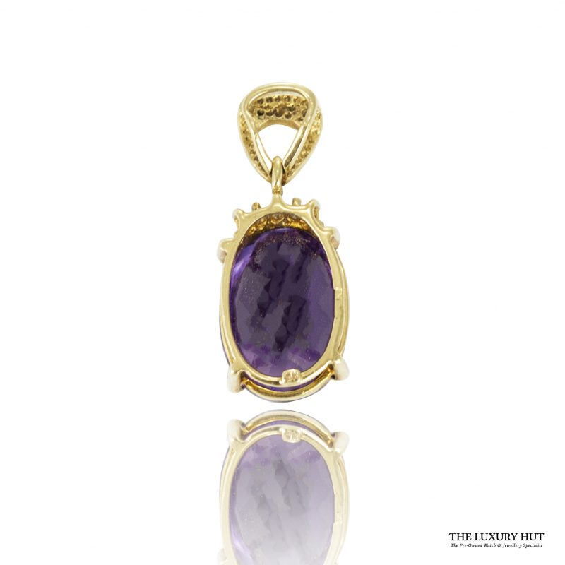 Shop 9ct Yellow Gold Amethyst & Diamond Pendant - Order Online Today