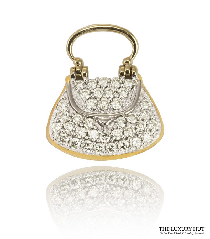 Shop 18ct Gold 0.74ct Diamond Handbag Pendant - Order Online Today For Next Day Delivery
