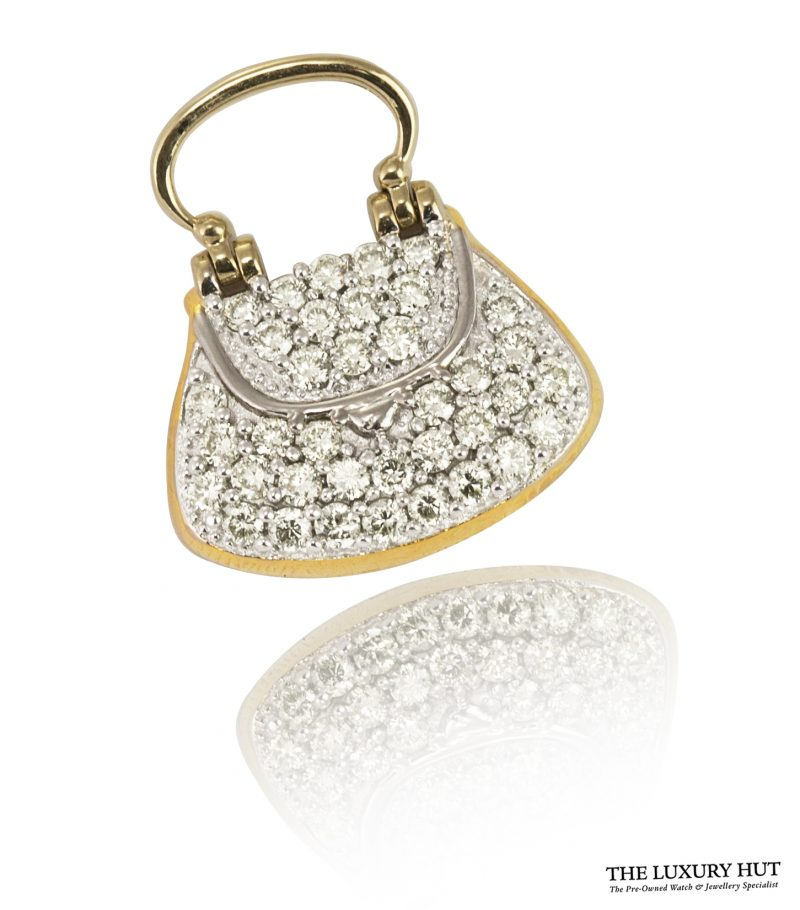 Shop 18ct Gold 0.74ct Diamond Handbag Pendant - Order Online Today For Next Day