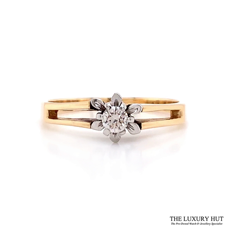 Shop 18ct Yellow & White Gold & Diamond Engagement Ring - Order Online Today For Next Day Delivery