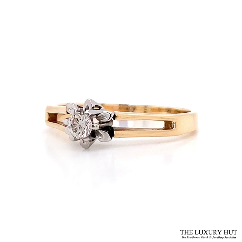 Shop 18ct Yellow & White Gold & Diamond Engagement Ring - Order Online Today For Next Day