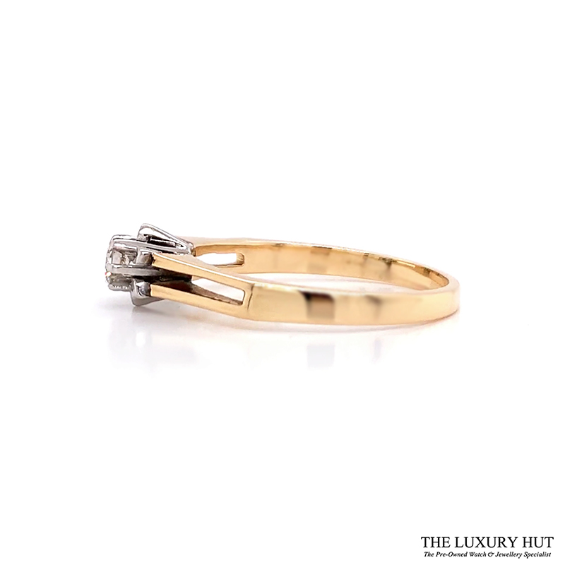 Shop 18ct Yellow & White Gold & Diamond Engagement Ring - Order