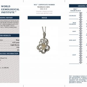 Shop 18ct White Gold 0.85ct Pear Shape Diamond Pendant - Order Online Today