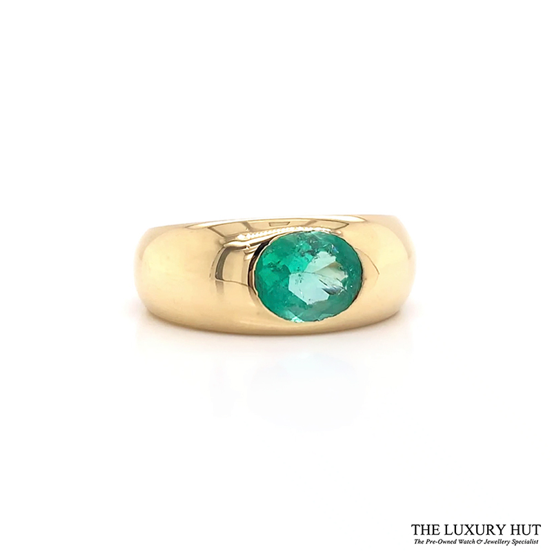 Shop 18ct Yellow Gold & 1.40ct Emerald Ring - Online