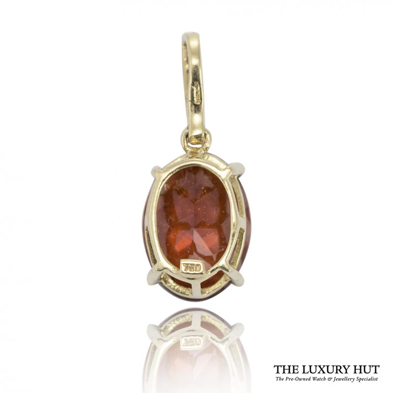 Shop 18ct Gold Red Synthetic Quartz & Diamond Pendant - Order Online Today